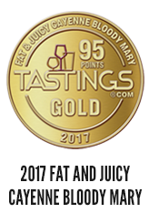 2017 International Review of Spirits Gold Medal for Fat & Juicy Cayenne Bloody Mary Mix