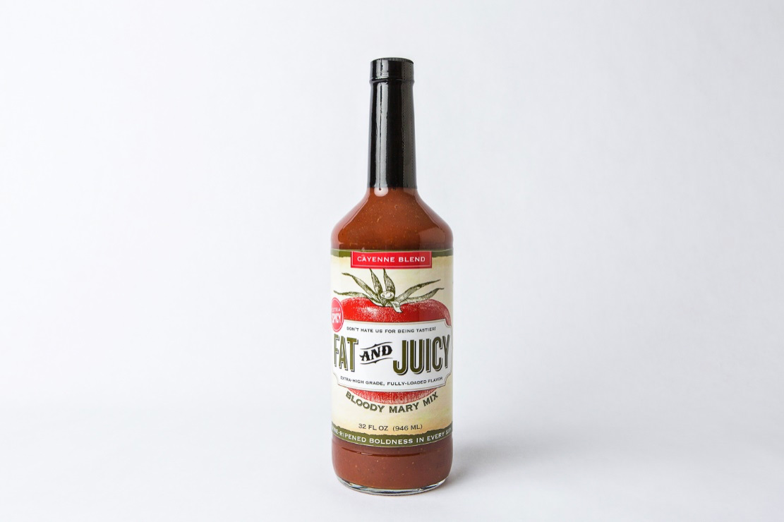 Fat and Juicy Cayenne Bloody Mary Mix Photograph of Bottle