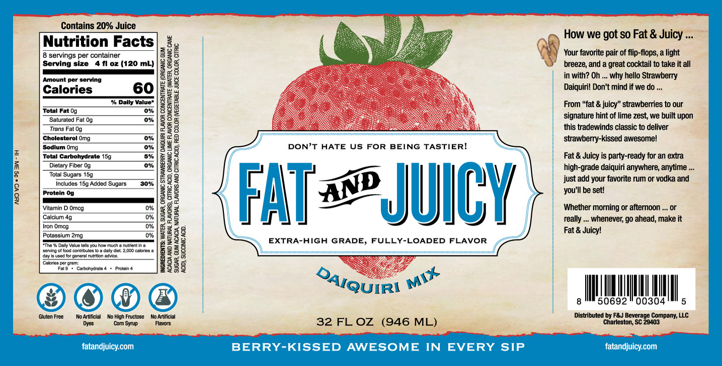 Fat and Juicy Daiquiri Mix Image of Label