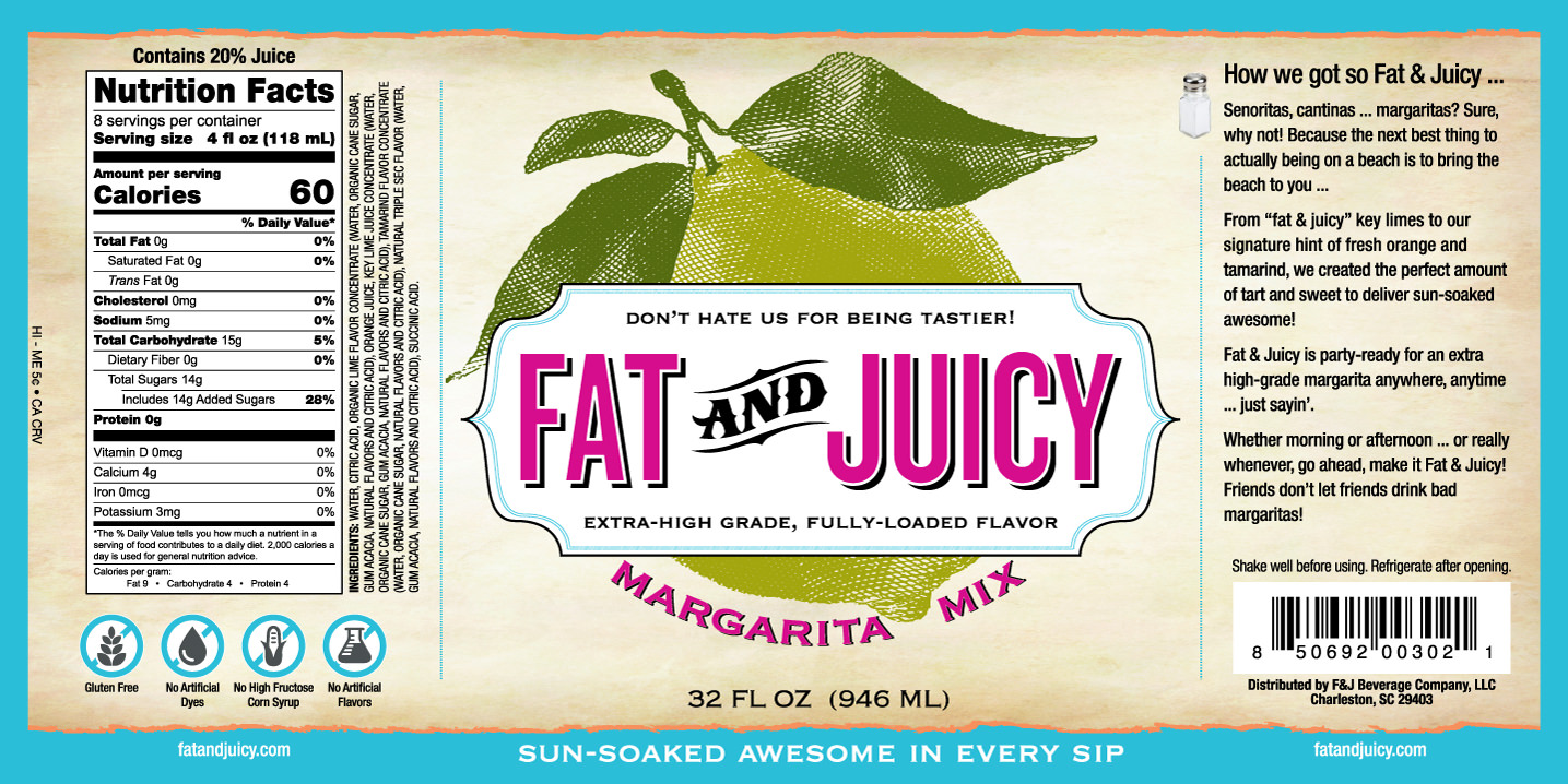Fat and Juicy Margarita Mix Image of Label